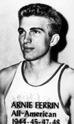Arnie Ferrin BS'66, 1948 draft pick for the Minneapolis Lakers and the only four-time All-American in Utah basketball history