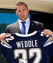 Eric Weddle ex'06, professional NFL player